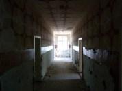 Dark, decorated corridor