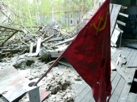Hammer and sickle flag