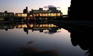 memorial museum at night