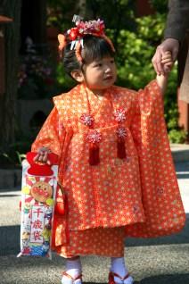 Young girl in kymono