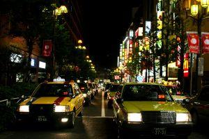 Taxi through Tokyo