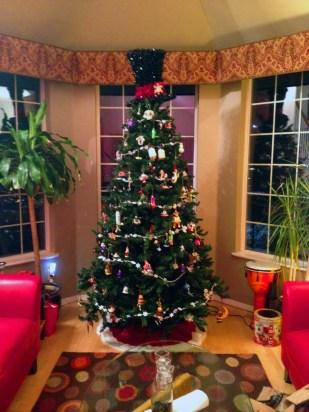 January 2, 2013: Unlit Christmas Tree