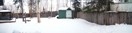 March 30, 2013 Backyard Pano