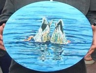 Ducks Diving 10x8 / 2000