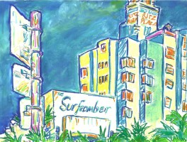 Surfcomber & Ritz Plaza 16x12 / 2002