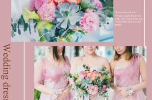 │Wedding│量身客製的歐美自然系捧花。用鮮花來見證婚禮幸福