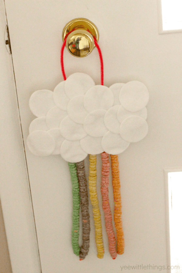 Hanging Rainbow Cloud Craft