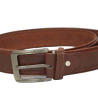 Leather Genuine Belt Brown