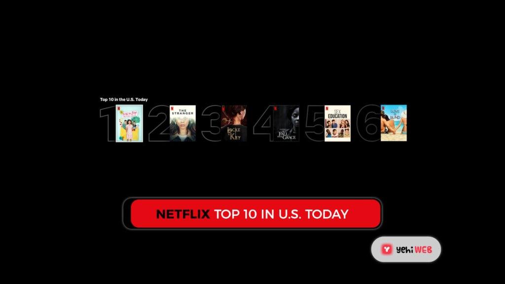 Netflix Top 10 in U.S. today Yehiweb