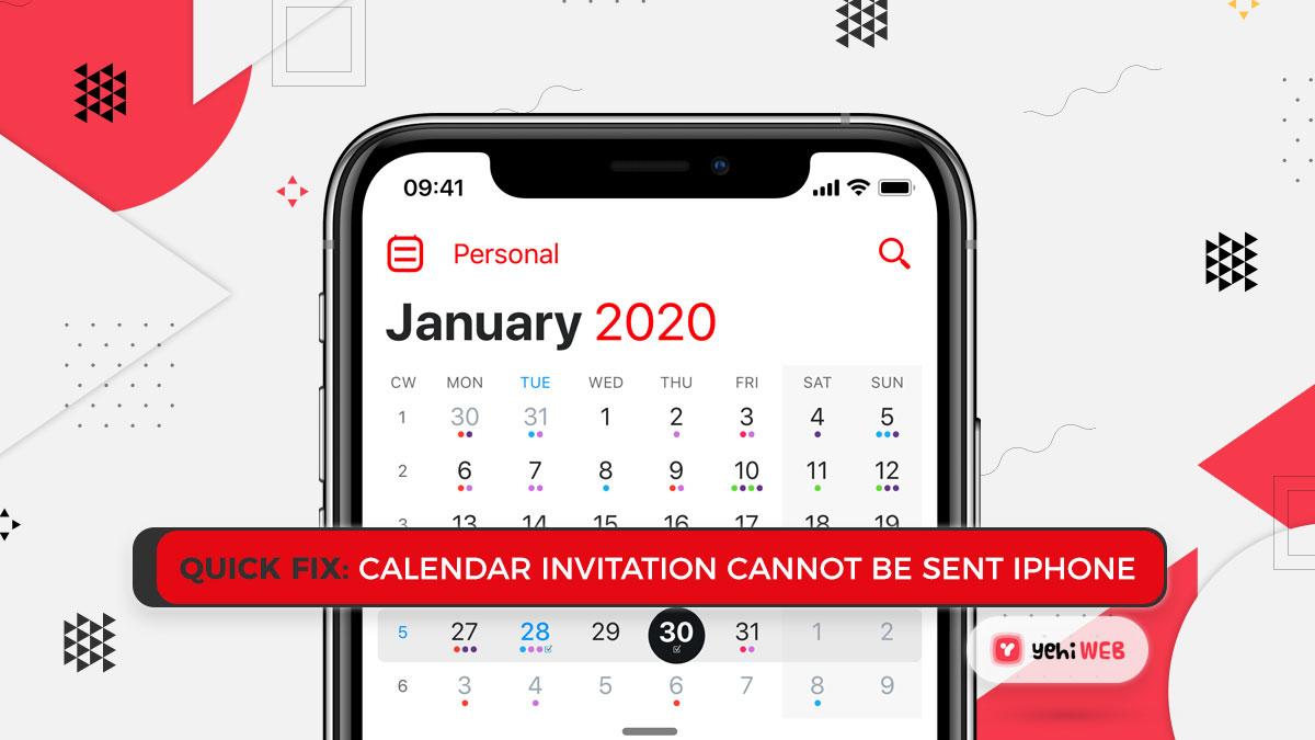 Quick Fix: Calendar Invitation Cannot Be Sent iPhone 6 Easy Steps
