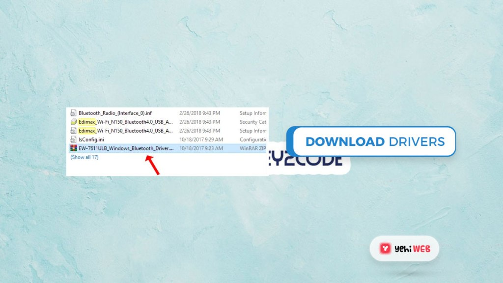download drivers yehiweb
