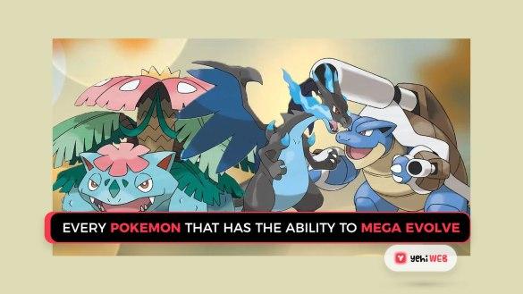every pokemon that has the ability to mega evolve yehiweb