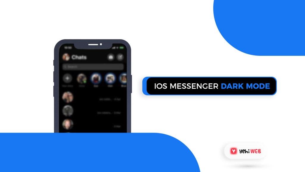 ios messenger facebook dark mode yehiweb