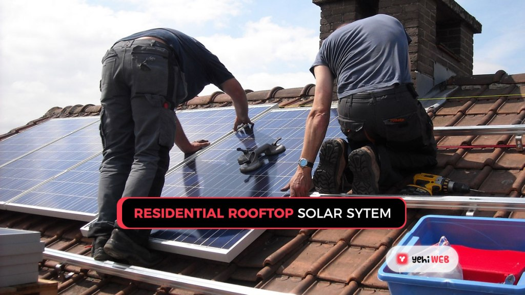 residential rooftop solar system?