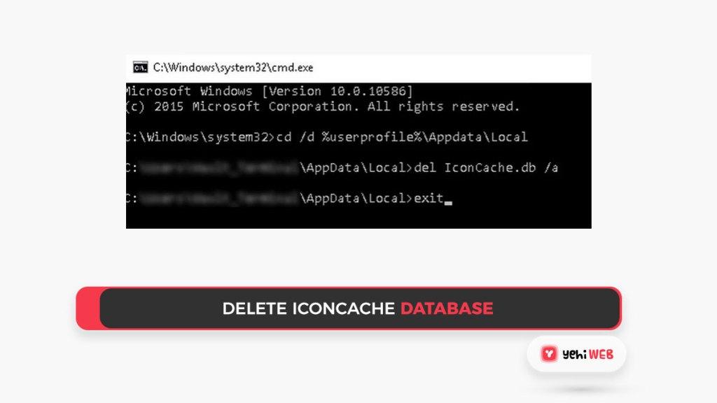 Delete Iconcache database Yehiweb