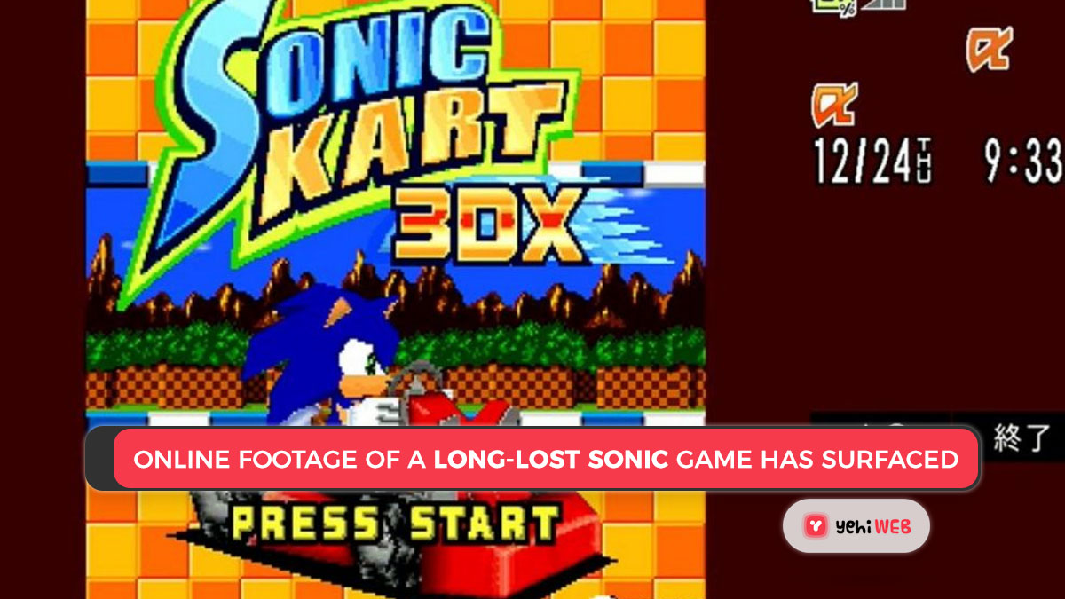 Online footage of a long-lost Sonic game has surfaced