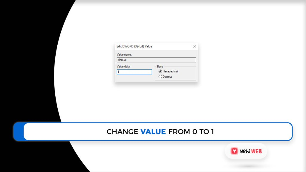 change value from 0 to 1 yehiweb