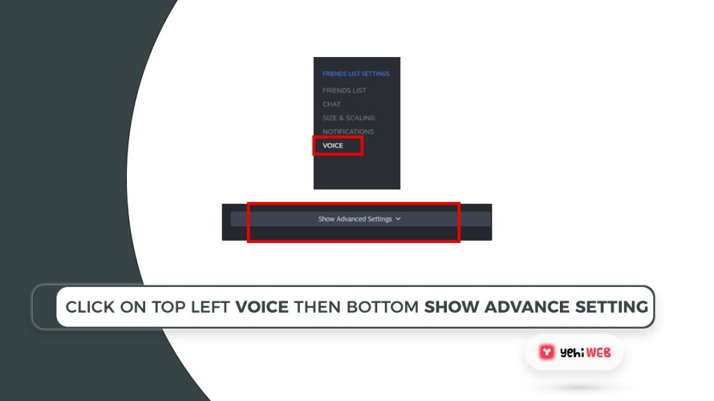 click on top left voice then bottom show advance setting Yehiweb