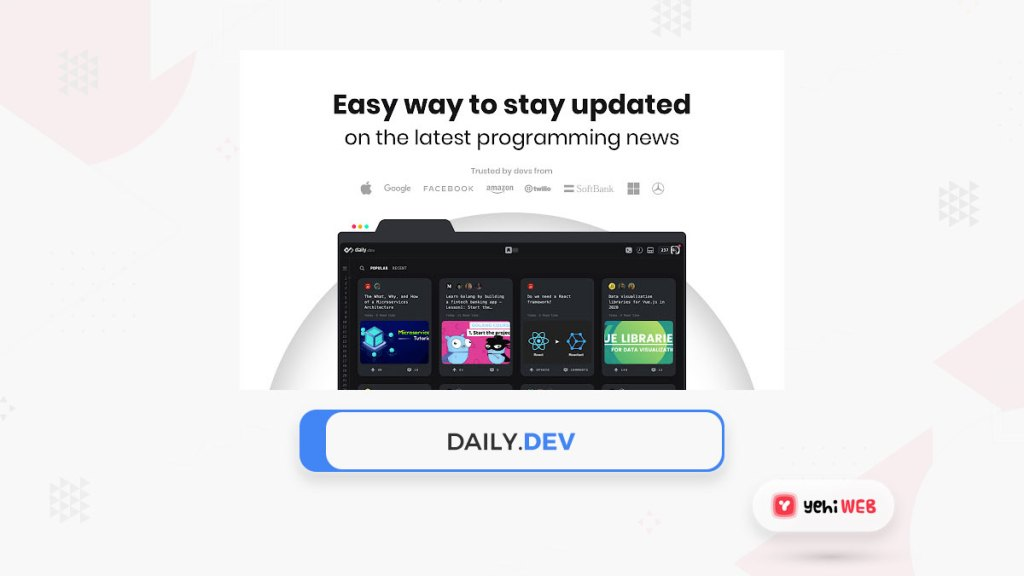 daily dev google extension yehiweb