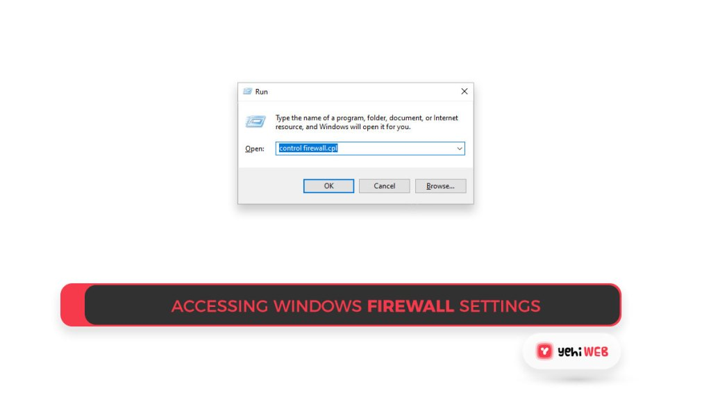 Accessing Windows Firewall settings Yehiweb
