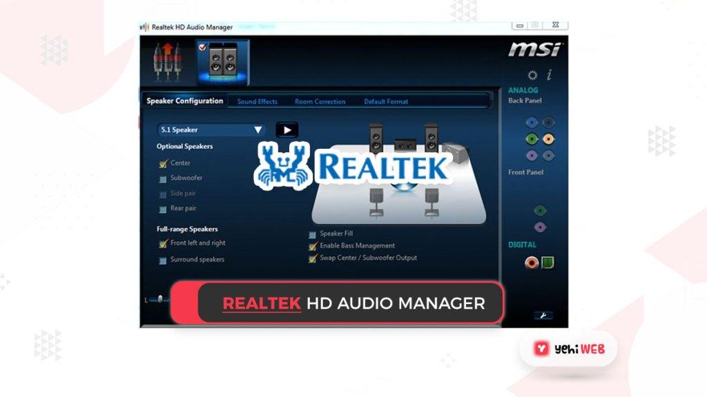 Realtek hd audio manager Yehiweb