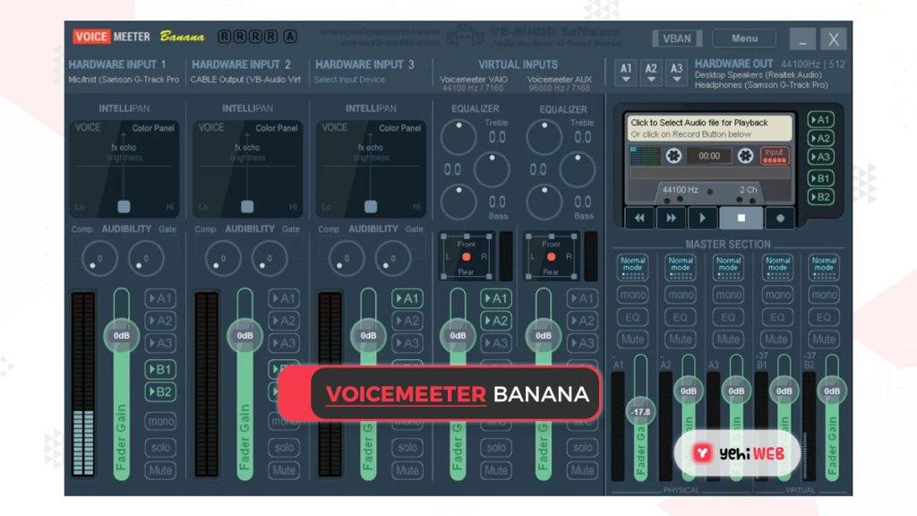 Voicemeeter banana yehiweb