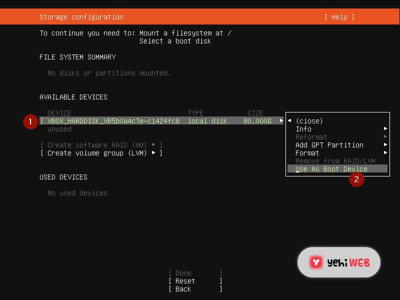 boot device ubuntu yehiweb