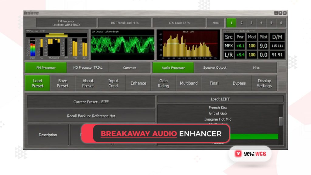 breakaway audio enhancer yehiweb