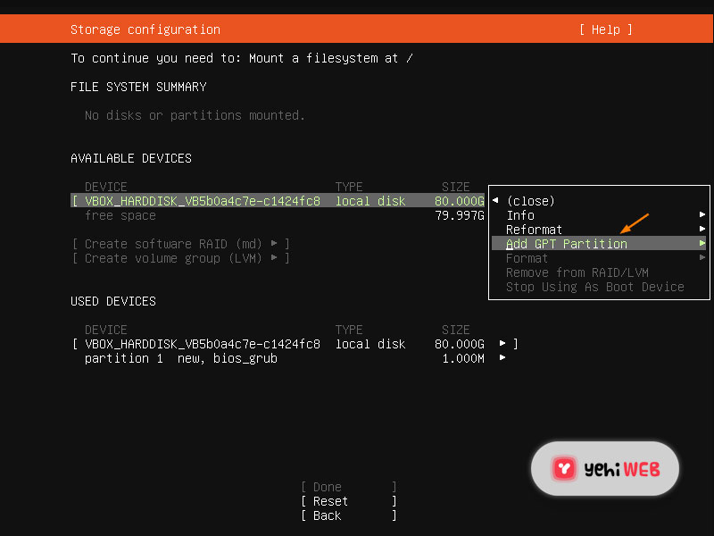 gpt partition yehiweb