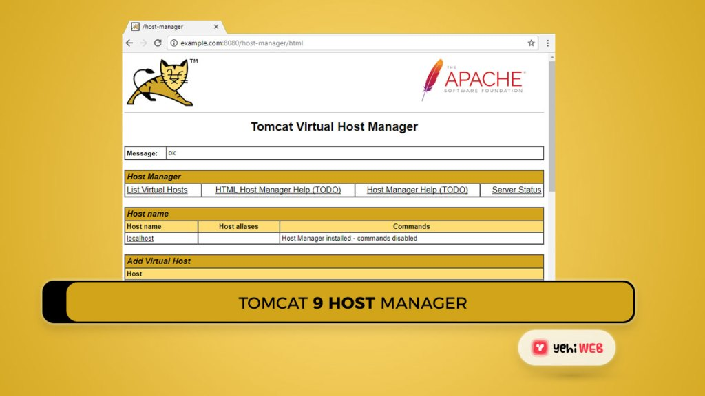 tomcat 9 host manager Yehiweb