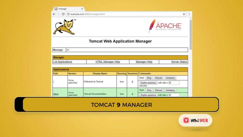 tomcat 9 manager yehiweb