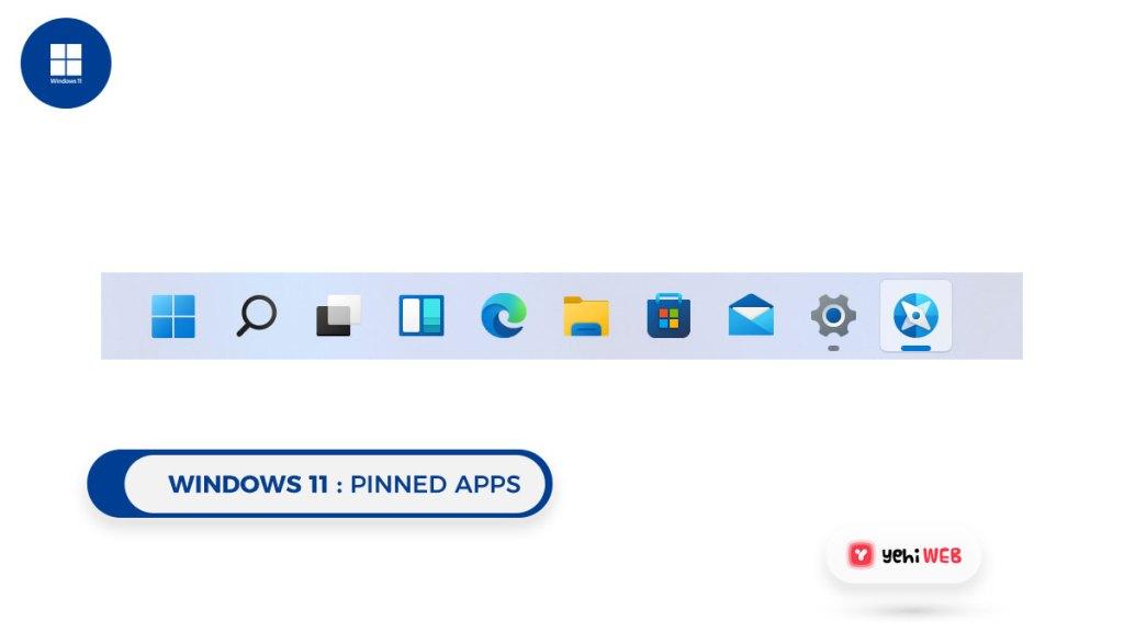 windows 11 pinned apps Yehiweb