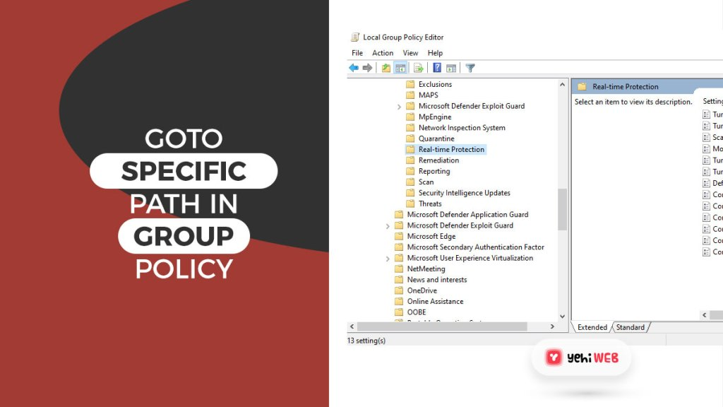 goto specific path in group policy editor yehiweb
