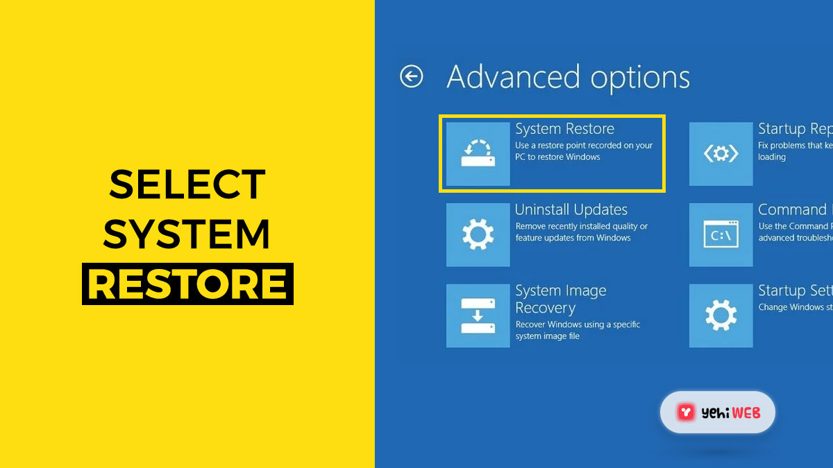 select system restore yehiweb