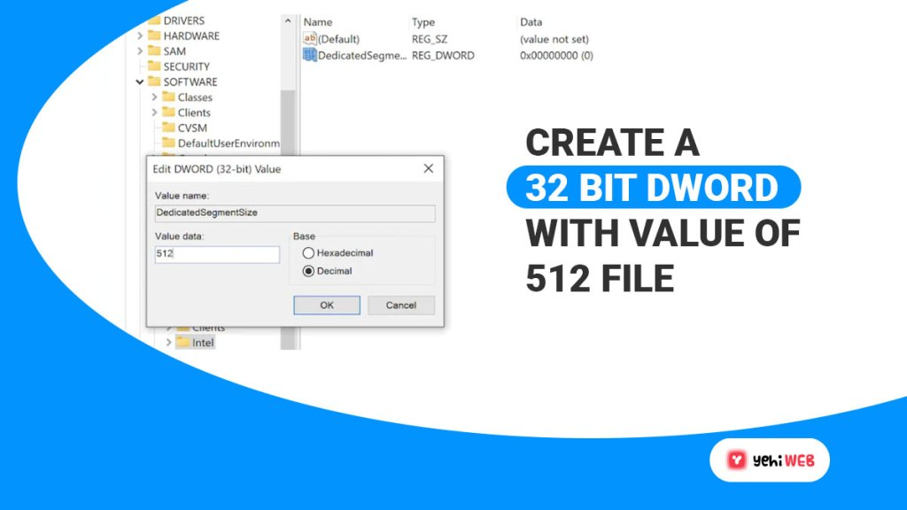create a 32 bit dword with value of 512 file yehiweb