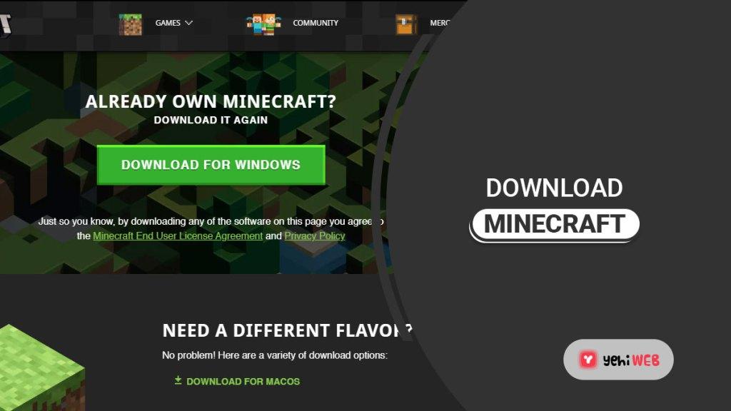 download minecraft yehiweb