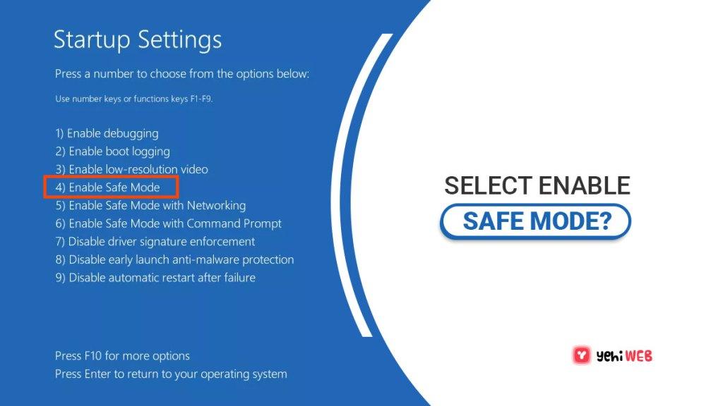 select enable safe mode yehiweb