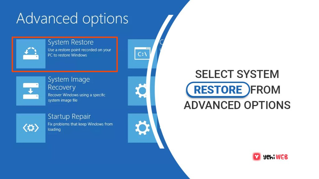 select system restore from advanced options yehiweb