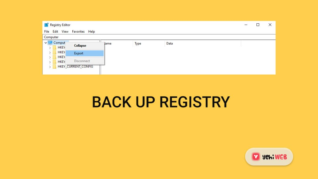 backup registry yehiweb