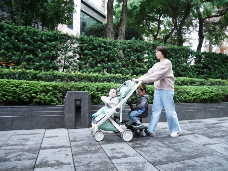 [親子] 二寶媽出門神器-韓國elenire kids-sled小熊推車輔助踏板