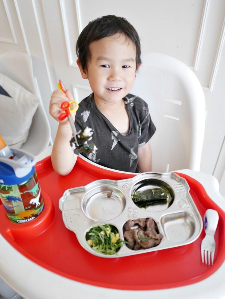[親子] 美國innobaby好用餐盤-金屬巴士餐盤、矽膠餐盤、小雞蒸盤