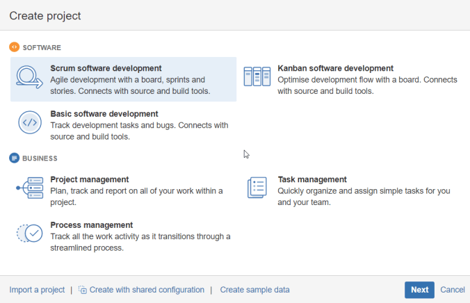 Scrum software development - JIRA