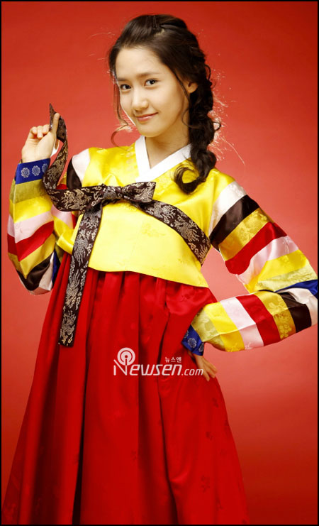 Korean pop group SNSD Yoona in Hanbok