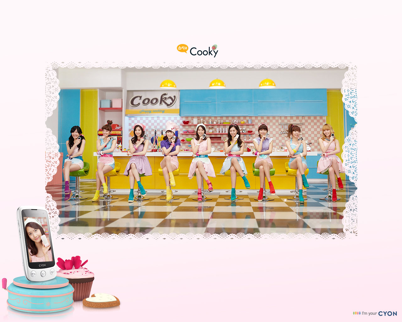 Cute Image For Wallpaper Mobile Snsd Lg Cyon Cooky Wallpapers Amp Pics