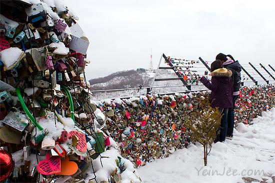 Namsan locks of love, Seoul, South Korea