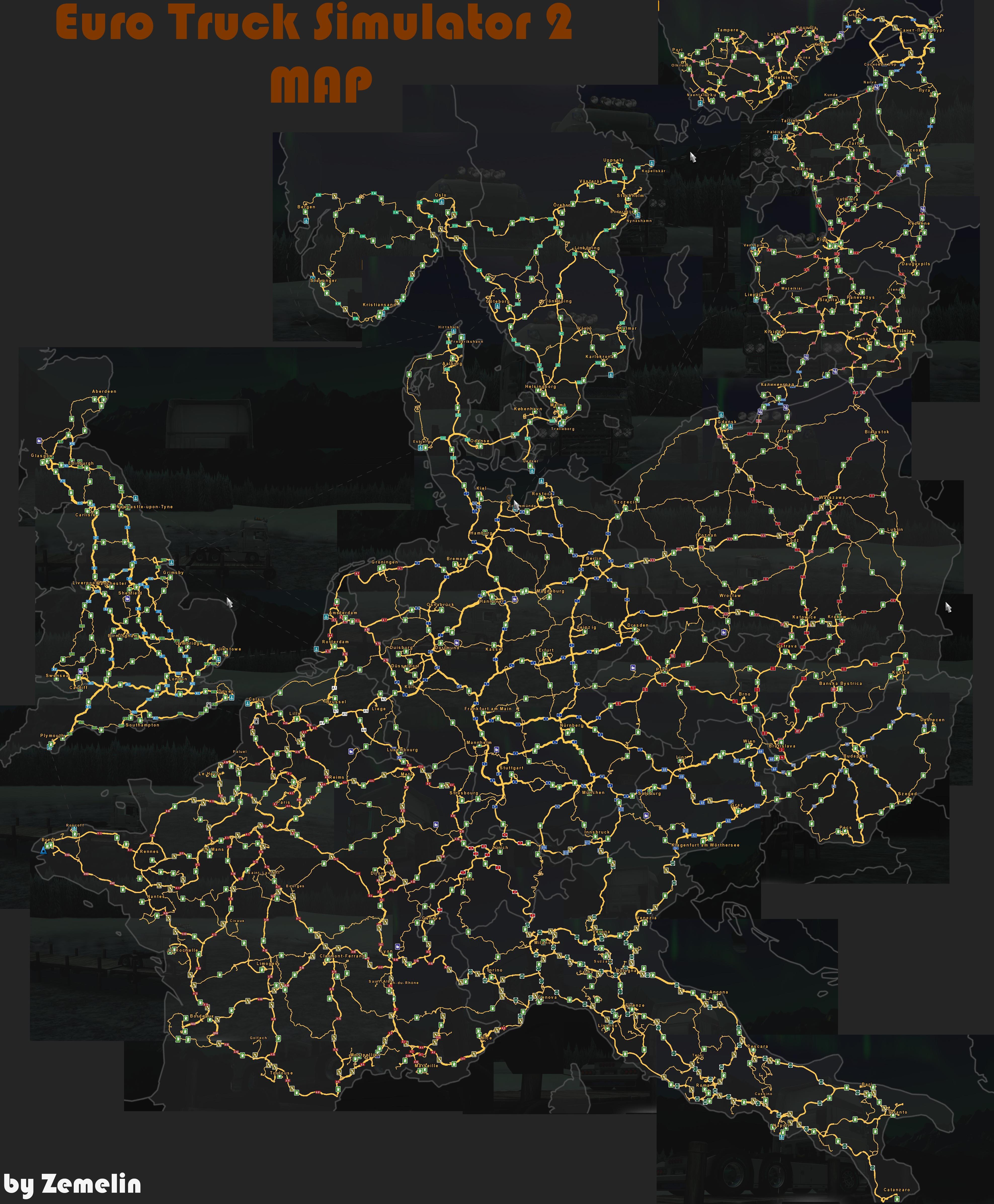 Mod Ets2 Map Jowo V7 : Dėlionė, Gamintojas, Molis, Axial-natura.com