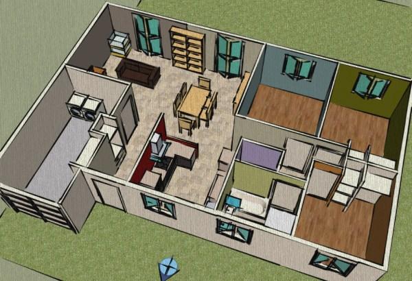 plan de maison google sketchup