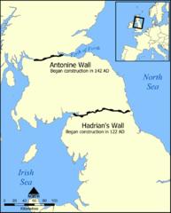 Hadrian Wall Map