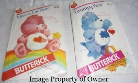 Butterick Care Bear patterns- unknown author