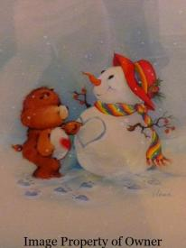 Tenderheart and his snowman